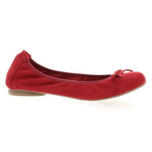 Latina Ballerines cuir velours rouge