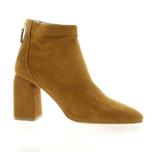 Fremilu Boots cuir velours cognac