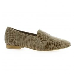 So send Mocassins cuir python beige