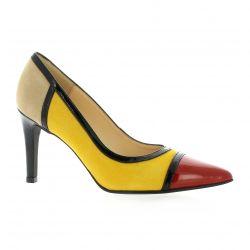 Brenda zaro Escarpins cuir velours jaune