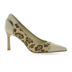 Elizabeth stuart Escarpins cuir velours leopard