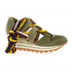 Gioseppo Nu pieds cuir velours beige