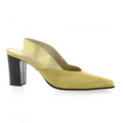 Vidi studio Escarpins cuir velours jaune