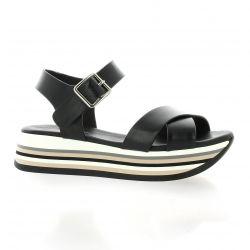 Repo Nu pieds cuir noir