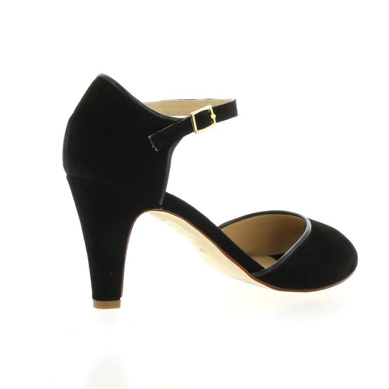 Ambiance Velours Como Chaussures Noir Escarpins Cuir w0N8nm