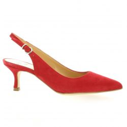 Pao Escarpins cuir velours rouge