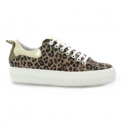 Pao Baskets cuir leopard