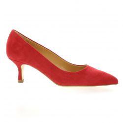 Pao Escarpins cuir velours rouge