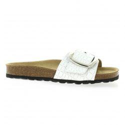 Reqins Nu pieds cuir blanc