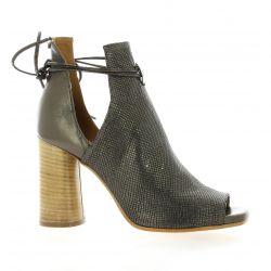 Nuova riviera Boots laminé/python bronze