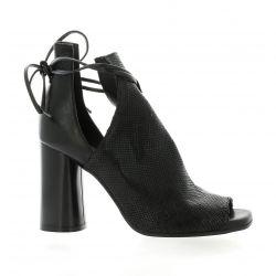 Nuova riviera Boots laminé/python noir