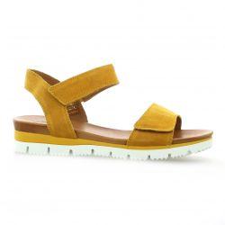 Creator Nu pieds cuir velours jaune