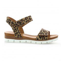 Creator Nu pieds cuir velours leopard