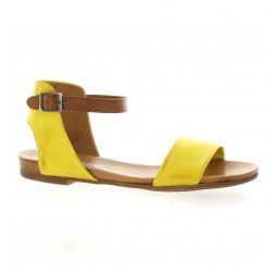 Creator Nu pieds cuir jaune
