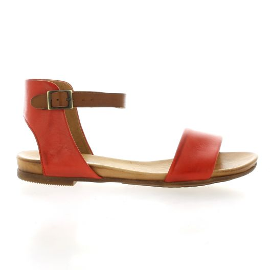 Creator Nu pieds cuir rouge