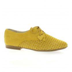 So send Derby cuir velours jaune