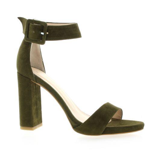 Fremilu Escarpins cuir velours kaki