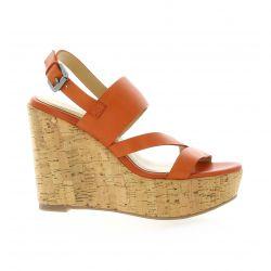 Exit Nu pieds cuir orange