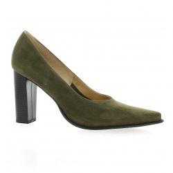 Vidi studio Escarpins cuir velours kaki