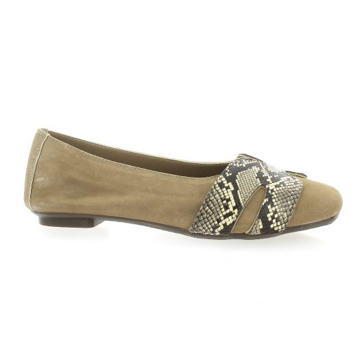 Reqins Ballerines peau taupe