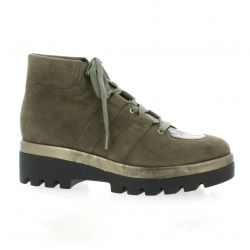 Benoite c Boots cuir velours taupe