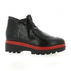 Benoite c Boots cuir python noir