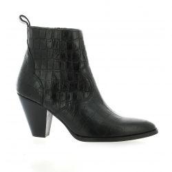 Vidi studio Boots cuir croco noir