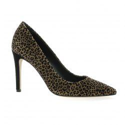 Fremilu Escarpins cuir velours leopard