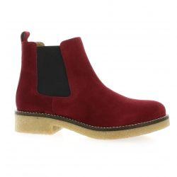 Exit Boots cuir velours bordeaux