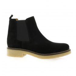 Exit Boots cuir velours noir