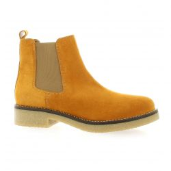 Exit Boots cuir velours ocre