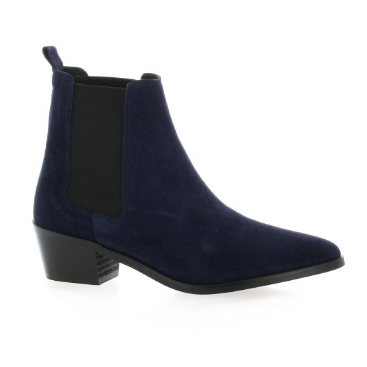 Exit Boots cuir velours marine