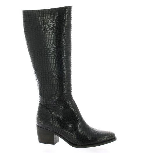 Minka design Bottes cuir python noir