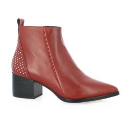 Adele dezotti Boots cuir rouge