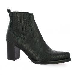 Spazio 08 Boots cuir python noir