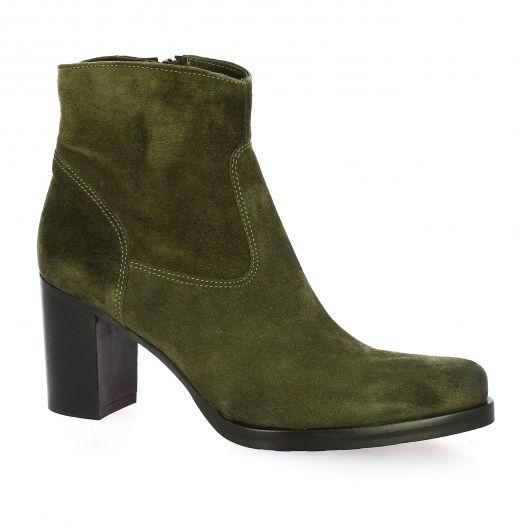 Spazio 08 Boots cuir velours kaki