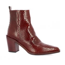Bruno premi Boots cuir python rouge