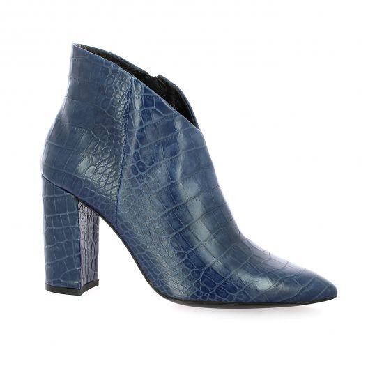 Bruno premi Boots cuir python bleu