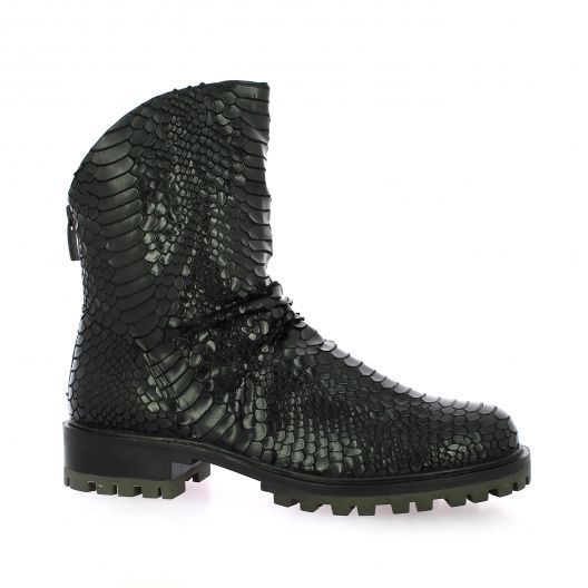 Bruno premi Boots cuir python noir