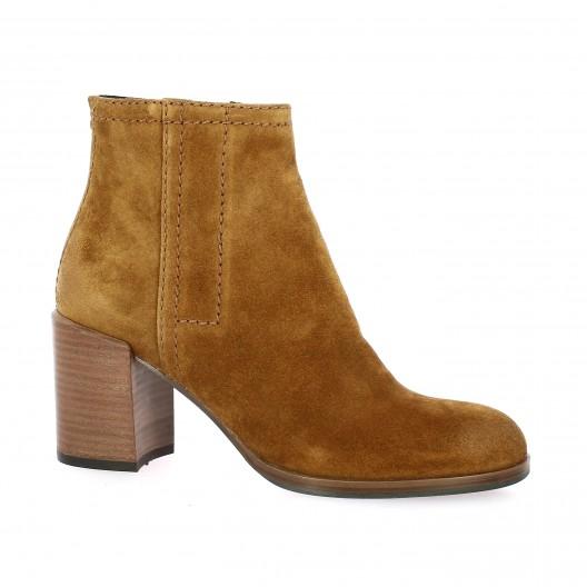Bruno premi Boots cuir velours cognac