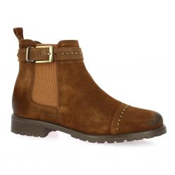 We do Boots cuir velours cognac