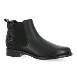 We do Boots cuir pailleté noir