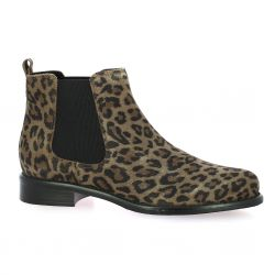 We do Boots cuir velours leopard