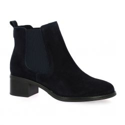 We do Boots cuir velours marine