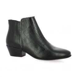 Impact Boots cuir croco noir