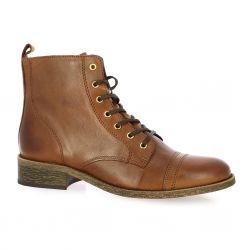 Impact Boots cuir cognac