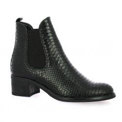 Exit Boots cuir serpent noir