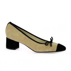 Elizabeth stuart Escarpins cuir velours noir/sable