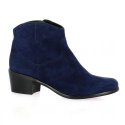 Elizabeth stuart Boots cuir velours marine