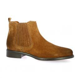 We do Boots cuir velours cognac
